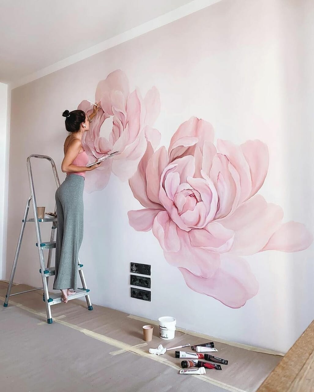 flowers, girl, and home image