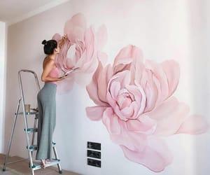 art, flowers, and mood image