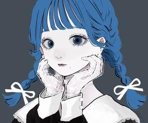 art, blue hair, and nice image