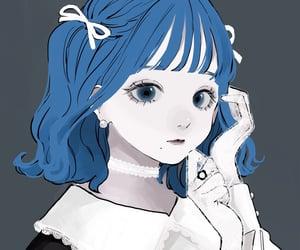 art, blue hair, and avatar image