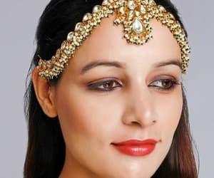 bangles, body jewelry, and lehenga choli image