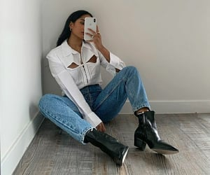boots, heels, and white image