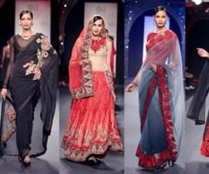 satin saree, cocktail saree, and net saree image