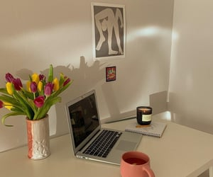 coffee, flowers, and home image