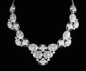 bridal jewelry, bridal necklace, and bib necklace image