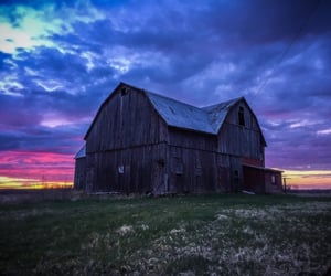 country living, farm, and sunrise image