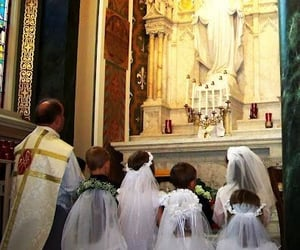 priest, statue, and katholische kirche image