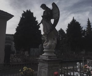cemetery, Darkness, and goth image