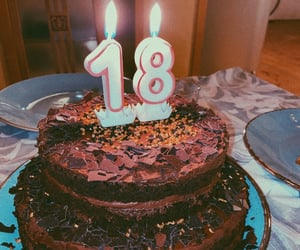 18, birthday, and birthday cake image