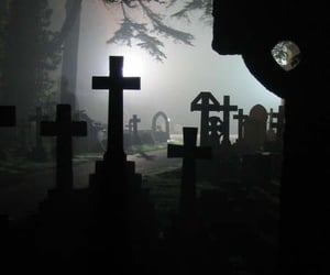 aesthetic, grave, and graveyard image