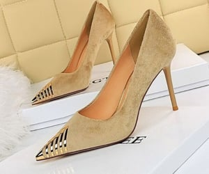 classy, touch of gold, and beige image