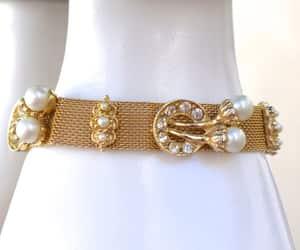 etsy, rhinestone bracelet, and mesh bracelet image
