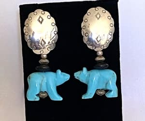 etsy, vintage jewelry, and sterling earrings image