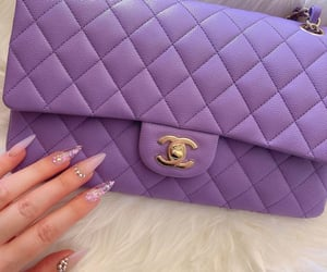 chanel, nails, and purple image
