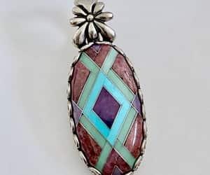 etsy, vintage jewelry, and southwestern pendant image
