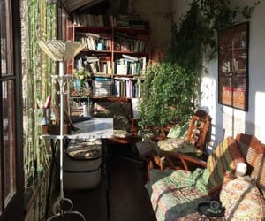 book, plants, and home image