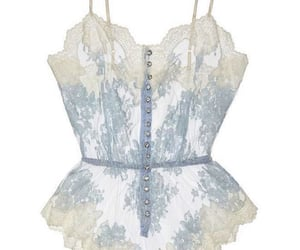 blue, lace, and lingerie image