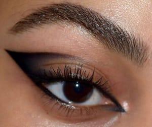 black, eye, and makeup image