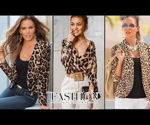 animal print, blouse, and fashion image