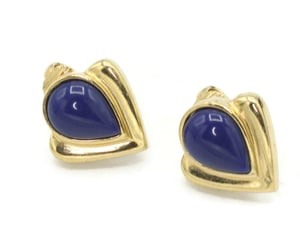 deepblue, vintagejewelry, and cliponearrings image