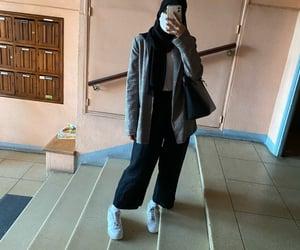 college, fashion, and hijab image