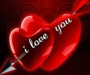 lovely, red, and love you image