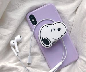 purple, aesthetic, and snoopy image