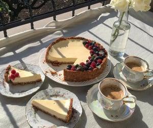 food, dessert, and cheesecake image