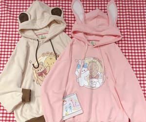 beige, hoodie, and kawaii image