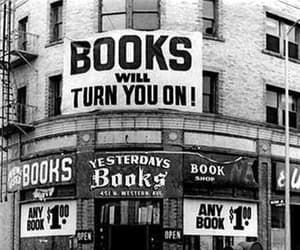 book store and books image