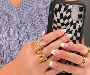aesthetic, nails, and rings image