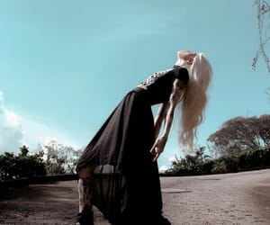 blonde, choker, and plains image