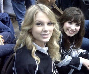 Taylor Swift and demi lovato image
