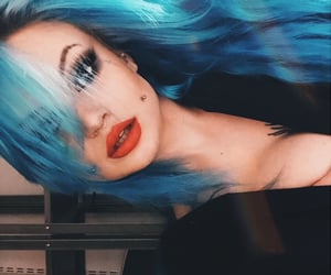 blue, colorful, and lips image