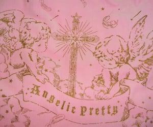 angel, pink, and cross image
