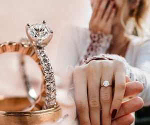 dress, ring, and woman image