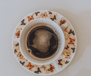 butterflys, coffe, and drink image