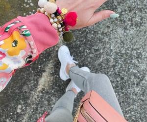 adidas, bracelets, and boho chic image