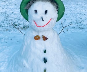 cold, snowman, and winter image