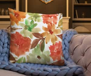 fabric, florals, and watercolor painting image
