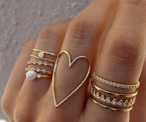 accessories, rings, and heart image