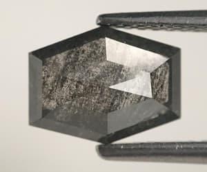natural diamond, loose diamond, and hexagon shape diamond image