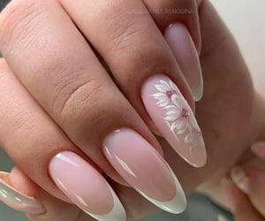 long nails, white, and nailstyle image