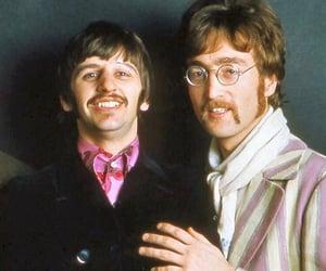 ringo starr, john lennon, and the beatles image