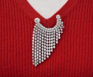 etsy, silver tone, and rhinestone pin image