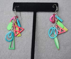 multi color, etsy, and hippie earrings image