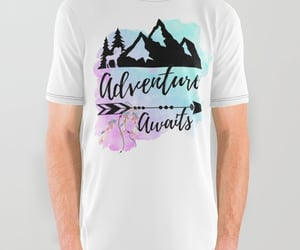 watercolor, camp hiking, and adventure image