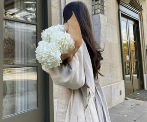 beautiful girl flowers and elegance beautiful image
