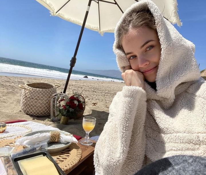 beach, beautiful, and model image