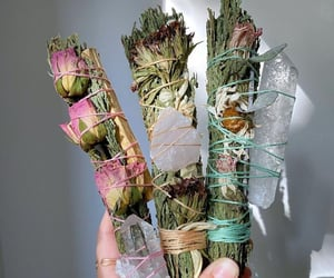 crystal, sage, and witch image